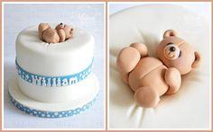 cute baby shower / new baby cake