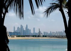 Dubai from the private beach at Atlantis
