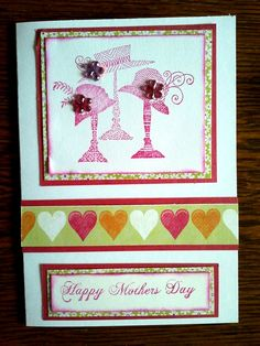 Created using #Kaisercraft papers and a #Stampendous stamp
