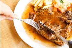 Rib Eye Steak with #Wine Sauce #recipe
