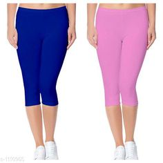 Capris Trendy Cotton Lycra Capris Leggings Fabric: Cotton Lycra Size: Up To 28 in to 36 in( Free Size) Length: Up To 34 in  Type: Stitched Description: It Has 2 Piece Of Women's Capris Pattern: Solid Country of Origin: India Sizes Available: Free Size, 24, 26, 28, 30, 32 *Proof of Safe Delivery! Click to know on Safety Standards of Delivery Partners- https://ltl.sh/y_nZrAV3  Catalog Rating: ★4 (2888)  Catalog Name: Alice Trendy Cotton Lycra Capris Combo Leggings CatalogID_136944 C79-SC1037 Code: 742-1110955-