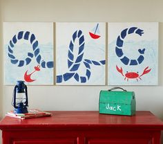 nautical triptograph, thinking a vertical piece for the wall
