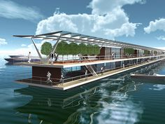 Marinetek Pori Floating Village, Marinetek floating villas, floating villas Finland, Finland floating resort, prefab architecture, floating houses, lightweight floating homes, eco-friendly housing, Marina Housing Finland