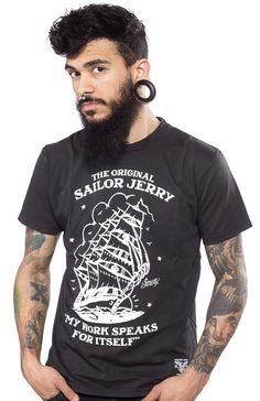 c6cfc6e27b158 SAILOR JERRY HOMEWARD BOUND T SHIRT Just like Sailor Jerry's work, this tee  shirt speaks for itself! This solid black cotton tee shirt features an  authentic ...