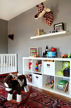 The idea of a persian carpet in a kids room never even crossed my mind! Love it!