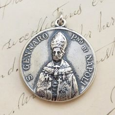 Hey, I found this really awesome Etsy listing at https://www.etsy.com/listing/241587720/st-gennaro-januarius-medal-patron-of