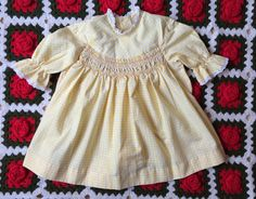 Yellow Gingham Polly Flinders Dress Toddlers 2/3 by lishyloo on Etsy