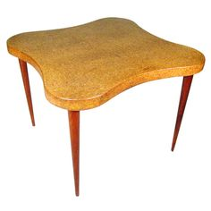 Paul Frankl 'Cloud' Cork Top Table for Johnson Furniture  SATURDAY / SALE | 1stdibs.com