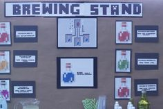 minecraft party - brewing stand with potion recipes