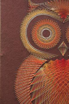 Eule String Art Wand hängend neue günstiger von forgottenPLUM