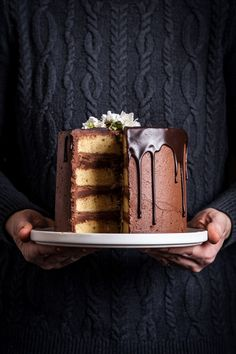 Marzipan Cake with Dark Chocolate Buttercream - sweet, nutty, floral, dense, chocolaty. Yes, marzipan can be cloyingly sweet in large amounts – which is why I've used it here sparingly and paired it with a dark chocolate buttercream. Together, they balance each other perfectly.