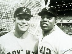 *m. Mickey Mantle with Willie Mays.  --  Who was better: Mantle or Mays? Fifty years after their rookie season, we're still debating it.  ~Allen Barra