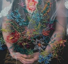 Melissa Zexter's Intricately Embroidery Covered Photographs