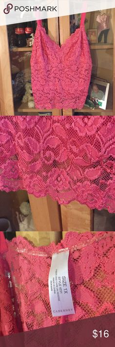Gorgeous pink lace bralette Beautiful pink lace bralette with adjustable straps. Non padded. From non smoking home Cabernet Intimates & Sleepwear