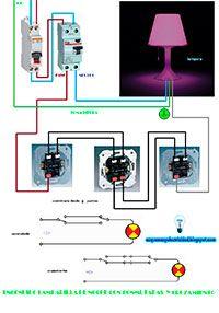 Esquemas eléctricos: Encendido lamparilla de noche con conmutadas y cru...