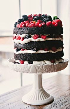 This..  only with white cake or angel food... A honey or light sugar icing... berries.. yay