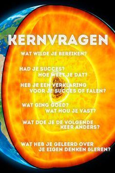 Kern Vragen stellen om achter de essentie te komen  bron: Groot werkvormenboek (http://www.bol.com/nl/p/het-groot-werkvormenboek/1001004005472187/
