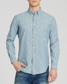 Polo Ralph Lauren Chambray Button Down Shirt - Classic Fit     59.99