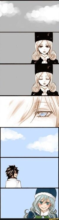 This is why I absolutely adore these two ,gray took away her rain and the real juvia came out