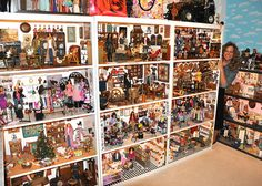my doll room & me by julie's doll room inventory, via Flickr-- I would totally display my dolls like this!