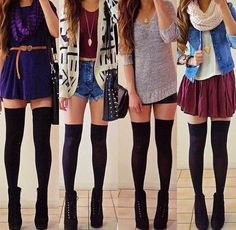Knee-high stockings. They're so cute, but I think they'd just end up looking silly on me :p