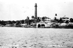 Jupiter Lighthouse Grounds - 1910 x Juno Beach Pier, Jupiter Lighthouse, Jupiter Florida, Indian River, Us Coast Guard, Old Florida, Fishing Villages, Community Events, West Palm