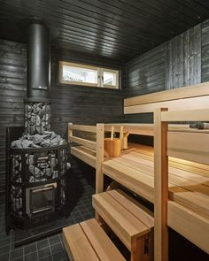Home Design Decor, House Design, Modern Saunas, Sauna Design, Sauna Room, Spa Rooms, A Frame Cabin, Bathroom Toilets, Home Spa