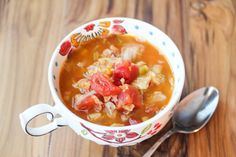 """<p>Soups like this can be made in large batches and frozen into meal size portions for an easy weekday meal.</p> <p><strong style=""""font-family: proxima-nova-n4, proxima-nova, 'Helvetica Neue', Helvetica, Arial, sans-serif;font-size: 14px;line-height: 18px"""">GET THE RECIPE HERE ><a title=""""Clean Eating Lentil Soup"""" href=""""http://jeanetteshealthyliving.com/2013/12/clean-eating-lentil-soup.html""""><em>Clean Eating Lentil Soup</em></a></strong></p>"""