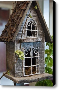 Ornamental Birdhouse 2 Stretched Canvas Print / Canvas Art By Douglas Barnett