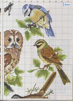 Схема для вышивки - Лесные птицы. Обсуждение на LiveInternet - Российский Сервис Онлайн-Дневников