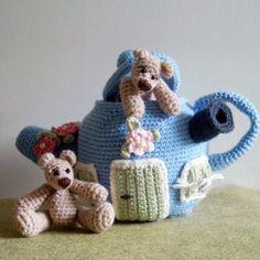 Bears & Teapot House amigurumi pattern by Tilda & Filur