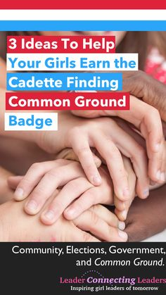 Using some of these activities Find Common Ground and learn the strategies to bring people together even if there are differing opinions. together 3 Fun Activities To Earn The Cadette Finding Common Ground Badge Girl Scout Leader, Girl Scout Troop, Girl Scouts, Cadette Girl Scout Badges, Cadette Badges, Girl Scout Activities, Fun Activities, Girl Scout Promise, Common Ground
