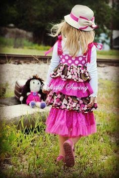 Bella Ruffled Dress Sewing Pattern - via @Craftsy
