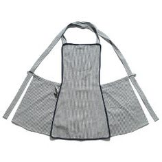Cotton Stripe Cross-Back Apron