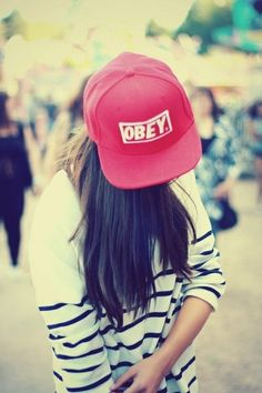 Snap back #OBEY hat red by LuccaCharles on Etsy, $27.00