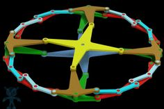 Circular Linkage With Fixed Center Mechanism - Parasolid, STL, STEP / IGES, SketchUp, SOLIDWORKS - 3D CAD model - GrabCAD