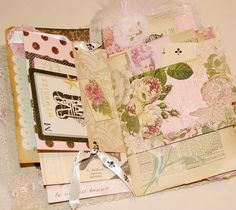 Another great way to use some of my left over papers and ephemera.  I enjoy making journals.  French Ephemera Journal