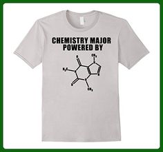 Mens Chemistry Major Powered By Caffeine Science Biology Shirt  XL Silver - Math science and geek shirts (*Amazon Partner-Link)