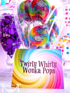 Willy Wonka Party Candy Party   PRINTABLE BLANK by CutiePutti, $7.50