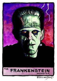 Frankenstein Monster by William Stout
