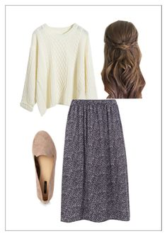 """S w e a t e r  + F l o r al   S k i r t"" by apostolicgirl85 ❤ liked on Polyvore featuring WearAll and Forever 21"