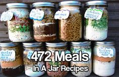 472 Meals In A Jar Recipes. Whether you are trying to save money for a better future, or canning and saving food for a SHTF event these recipes will help