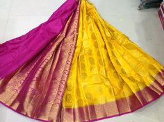 Anuratha butta Attractive colours Fantastic colour combinations Contrast pallu Contrast blouse Price : ₹1850/- free shipping