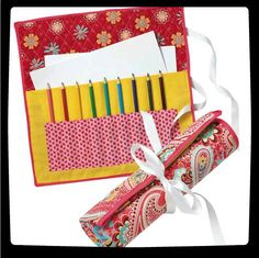Take pencils and paper on the road, with this travel organizer :)