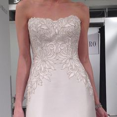 We were blown away by this intricate Mikado bodice at Maggie Sottero