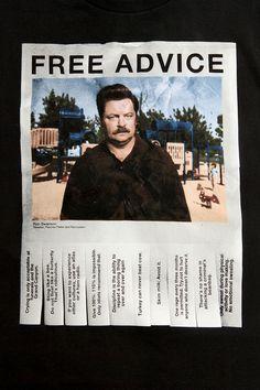 Ron Swanson Free Advice Tee