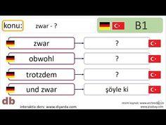 B1 almanca I B1 Deutsch I zwar, obwohl, trotzdem, und zwar Youtube, Deutsch, Youtubers, Youtube Movies
