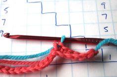 Técnica tapesky o jacquard en crochet - Crochet Esquemas