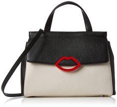 Lulu Guinness Women's Gertie Cross-Body Bag Black (Black/Porcelain): Amazon.co.uk: Shoes & Bags