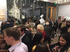 Fantastic art and art enthusiasts in a beautiful space at the Private Collections post-party.